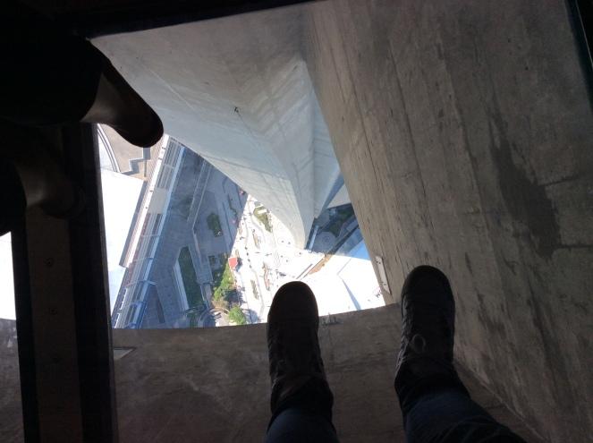Le plancher de verre à 355 mètres du sol