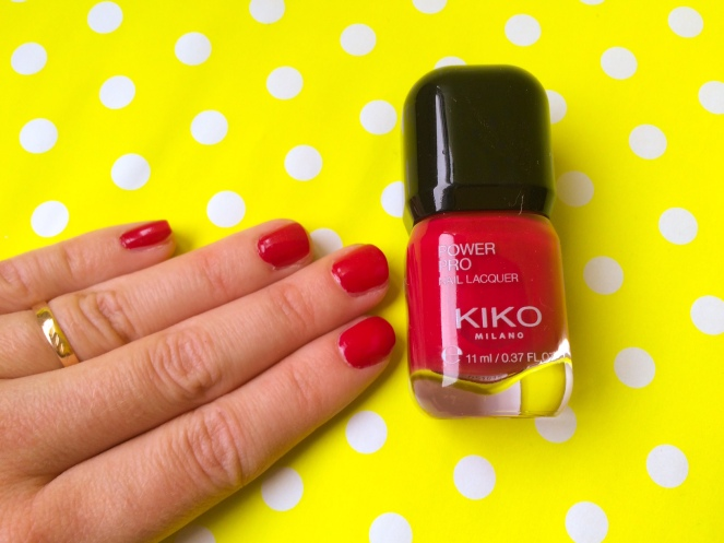 Nail pro lacquer Kiko teinte #46 Ribes Red
